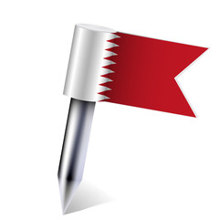 Vector Bahrain flag isolated on white. Eps10