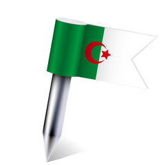 Vector Algeria flag isolated on white. Eps10