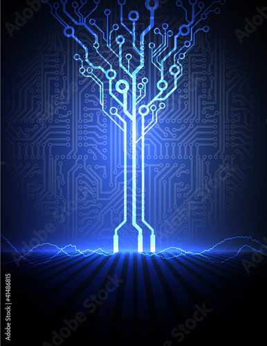 vector conceptual electronic background