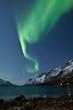 Aurora Borealis reflecting in the sea