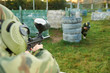 paintball player under attack