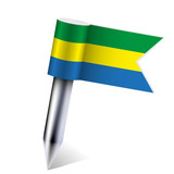 Vector Gabon flag isolated on white. Eps10