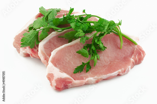 Pork loin steaks with herbs