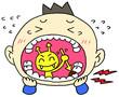 虫歯の痛い男の子