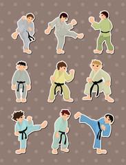 cartoon Karate Player stickers