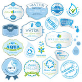 Fototapety Set of water labels