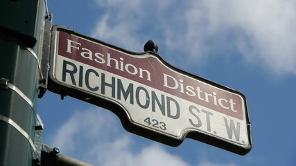 Fashion District Street Sign CU