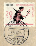 "Canceled german stamp ""Invincible Vietnam"""