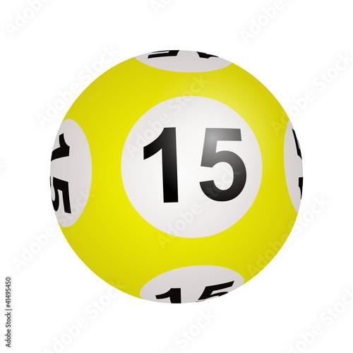 Tirage loto, boule numéro 15