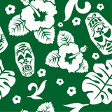 Vector aloha seamless pattern