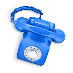 isolated blue phone