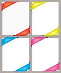 Colorful corner ribbons.