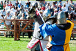 Medieval knights in battle