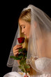 Braut mit Rose