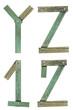 Old Grunge Wooden Alphabet, vector illustration set