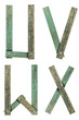 Old Grunge Wooden Alphabet, vector illustration set