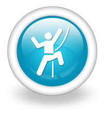 "Light Blue Icon ""Rock Climbing"""