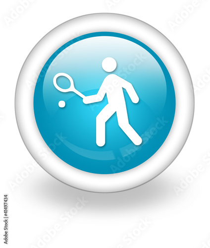"Light Blue Icon ""Tennis"""