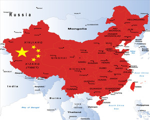 China-political map