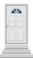 Vector illustration of door