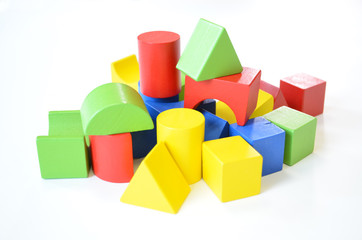 Colorful wooden toy, more kinds of shape