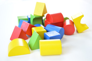 Colorful wooden toy