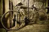 Fototapeta stary - wypoczynek - Rower