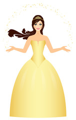 Vector illustration of beautiful Princess
