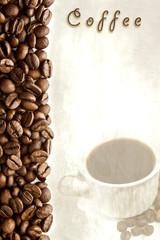 carta del menú de café
