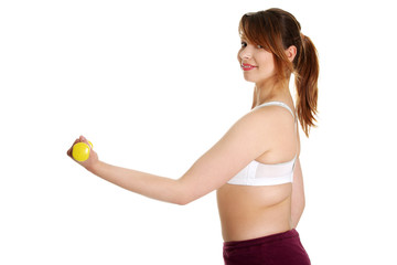 Young woman during fitness time