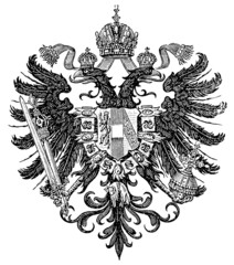 Smaller coat of arms of the Empire of Austria (Austro-Hungarian)