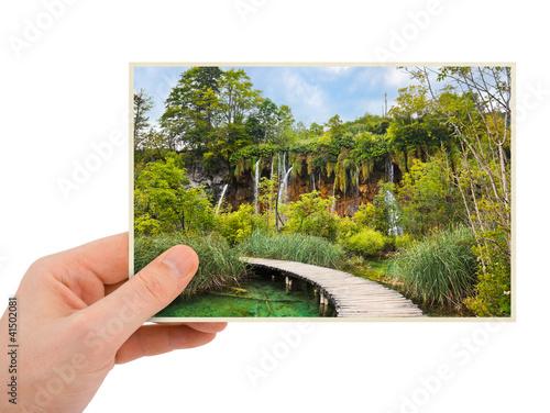 Plitvice lakes (Croatia) photography in hand