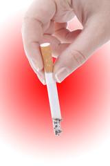 Stub out a cigarette