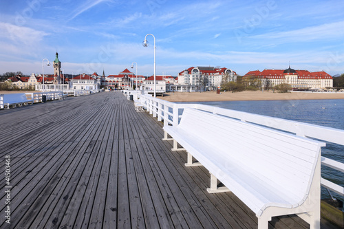 Pier in Sopot, Poland.