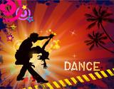 Fototapety Suggestive musical themed latino dance.