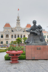 Statue of Ho Chi Minh with Child