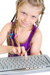 Mädchen mit Tastatur