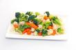 Assiette de légumes vapeur