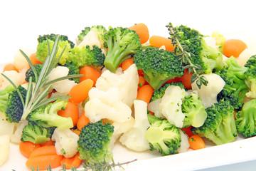Brocoli choux fleur carottes