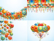 Four composition with creative air ballons