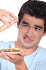Hamburger with surprise