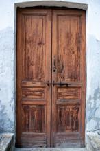 Alte hölzerne Tür Farbbild