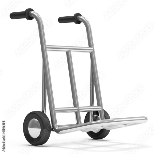 Metal Hand Truck isolated on white background