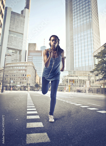 Jogging in the city