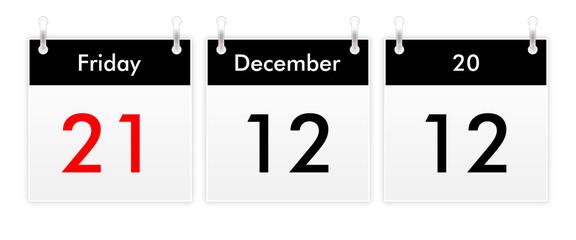 21.12.12 - 21 December 2012 - that day