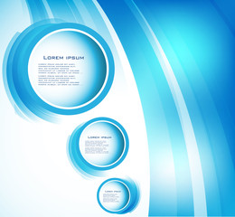 Vector abstract circle blue and line. water