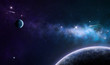 blue and purple nebula