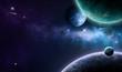 canvas print picture - blue and purple nebula