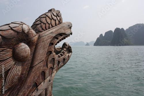 Leinwanddruck Bild Drachenboot
