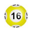 Tirage loto, boule numéro 16